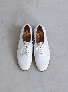 SANDERS FEMALE PLAIN TOE SHOE WHITE