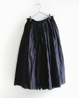 humoresque ramdom tuck skirt  BLACK