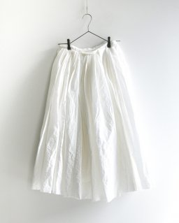 humoresque ramdom tuck skirt  WHITE