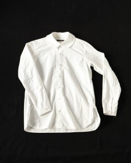 GARMENT REPRODUCTION OF WORKERS PAN COLLAR SHIRT WHITE