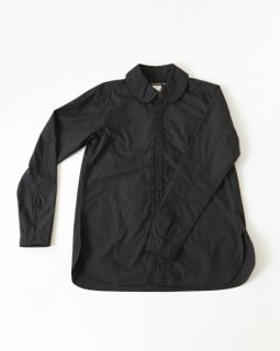 GARMENT REPRODUCTION OF WORKERS PAN COLLAR SHIRT BLACK