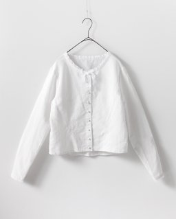 humoresque shape blouse WHITE