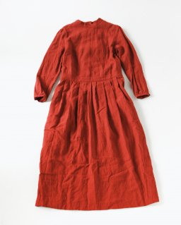 the last flower of the afternoon かげとひかりのclassic one-piece dress RED
