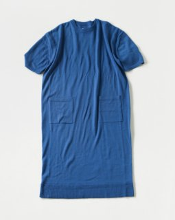THE FACTORY comfort woolニットワンピース BLUE