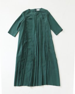 humoresque pleated dress GREEN