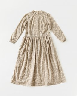the last flower of the afternoon 雨花のone-piece dress BEIGE