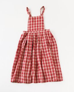 GARMENT REPRODUCTION OF WORKERS エプロンスカート RED CHECK