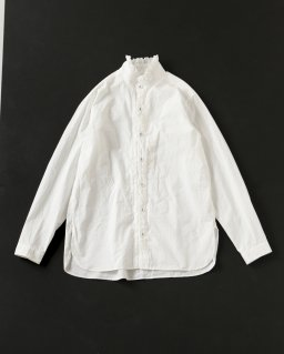 GARMENT REPRODUCTION OF WORKERS フリルシャツ WHITE
