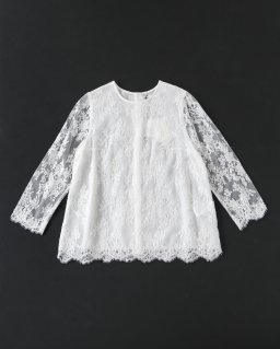 Bilitis Leaver Lace Blouse IVORY