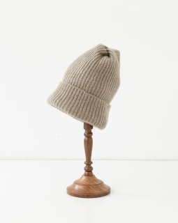 mature ha. pleats knit cap LIGHT MOCHA
