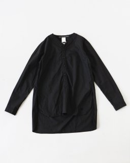 GARMENT REPRODUCTION OF WORKERS ヘンリーネックシャツロング BLACK