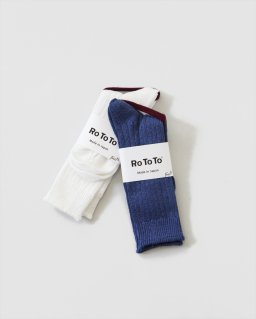 RoToTo LINE COTTON RIB SOCKS