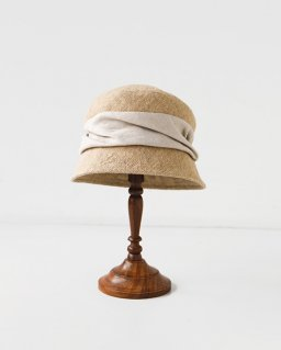 mature ha. jute drape hat short NATURAL
