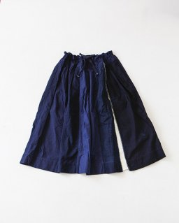 TIGRE BROCANTE 藍の古布スリットスカート WHITE