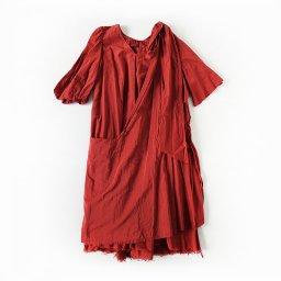 GASA* ーガーベラの赤ー ドレープドレス(19AW)