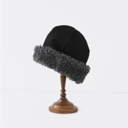 mature ha. hood cap BLACK 19AW