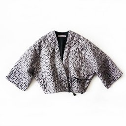 TOWAVASE Daisy quilt towa short robe black flower(19AW)