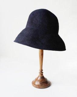 mature ha. paper linen braid denim hat wide (2020SS)