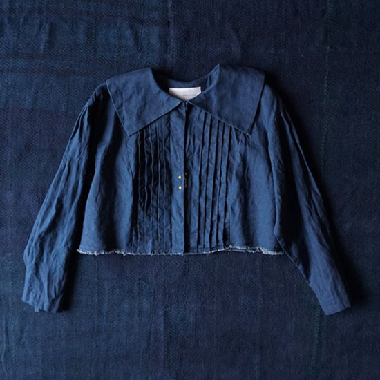 the last flower of the afternoon 夜渡る月のflat collar jacket (2020SS)