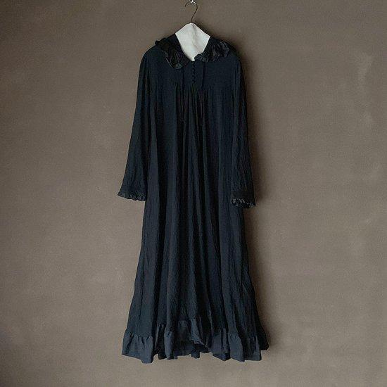 HALLELUJAH  中世のフードドレス Black (2020AW)