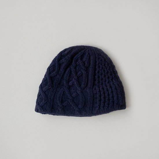 mature ha. slant cutting knit felt relief cap aran2 lamb