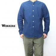 <img class='new_mark_img1' src='//img.shop-pro.jp/img/new/icons50.gif' style='border:none;display:inline;margin:0px;padding:0px;width:auto;' />WORKERS/ワーカーズ Band Collar Shirt Indeigo Chambray
