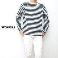 WORKERS/ワーカーズ Narrow Border ナローボーダー ロングスリーブ Black/White