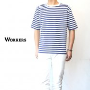 WORKERS/ワーカーズ Narrow Border ナローボーダー Navy/White
