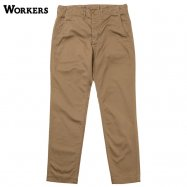 <img class='new_mark_img1' src='//img.shop-pro.jp/img/new/icons59.gif' style='border:none;display:inline;margin:0px;padding:0px;width:auto;' />WORKERS/ワーカーズ Officer Trousers Slim Type2 USMC Khaki Chino