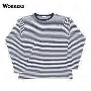 WORKERS/ワーカーズ 6oz Border Long Sleeve NAVY