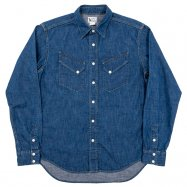 <img class='new_mark_img1' src='//img.shop-pro.jp/img/new/icons13.gif' style='border:none;display:inline;margin:0px;padding:0px;width:auto;' />WORKERS/ワーカーズ  Western Shirt  8 oz Indigo denim ウエスタンシャツ Washed