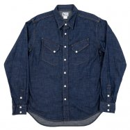 <img class='new_mark_img1' src='//img.shop-pro.jp/img/new/icons50.gif' style='border:none;display:inline;margin:0px;padding:0px;width:auto;' />WORKERS/ワーカーズ  Western Shirt  8 oz Indigo denim ウエスタンシャツ OW