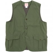 <img class='new_mark_img1' src='//img.shop-pro.jp/img/new/icons50.gif' style='border:none;display:inline;margin:0px;padding:0px;width:auto;' />WORKERS/ワーカーズ  Cruiser Vest, Reversed Sateen, Reactive dyeing, OD