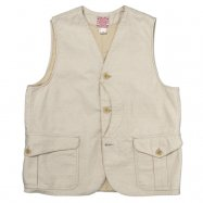 <img class='new_mark_img1' src='//img.shop-pro.jp/img/new/icons13.gif' style='border:none;display:inline;margin:0px;padding:0px;width:auto;' />WORKERS/ワーカーズ  Cruiser Vest, Reversed Sateen, Ecru