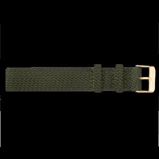 【WEB/期間限定】Perlon ストラップ ゴールド オリーブグリーン