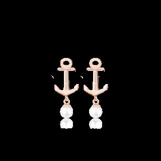 Anchor Pearl ピアス ローズゴールド/パール