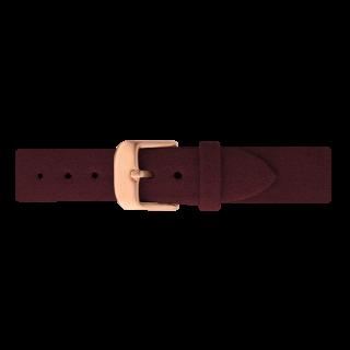 ベルト幅16�専用 ウォッチストラップ ローズゴールド /Alcantaraダークベリー