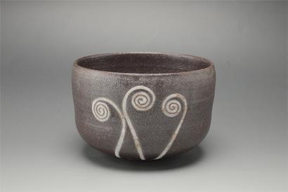 掛分釉描茶碗「薇」
