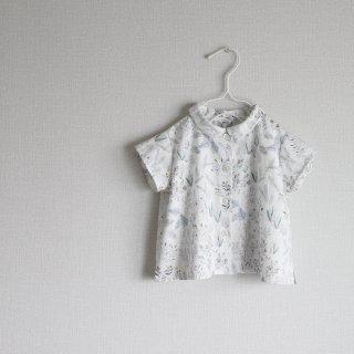 FOREST FLOWER round collar shirt