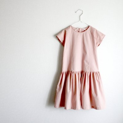 French sleeve tuck dress