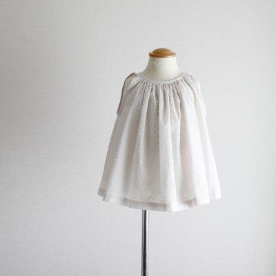 sleeveless gather blouse