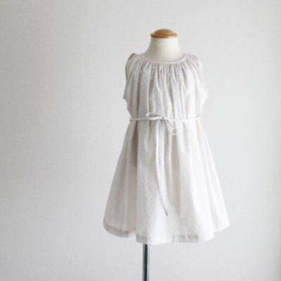 sleeveless gather dress