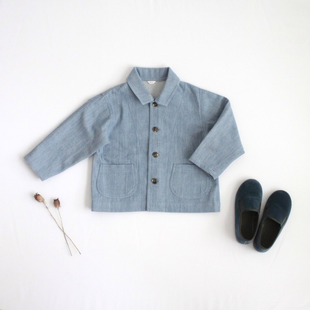 Soft denim coveralls