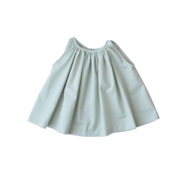 Cotton linen gather blouse