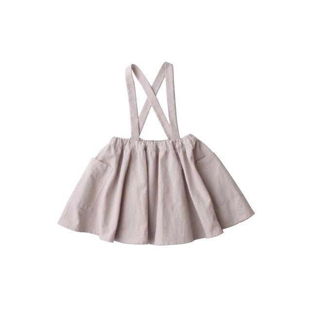 Cotton linen suspender skirt