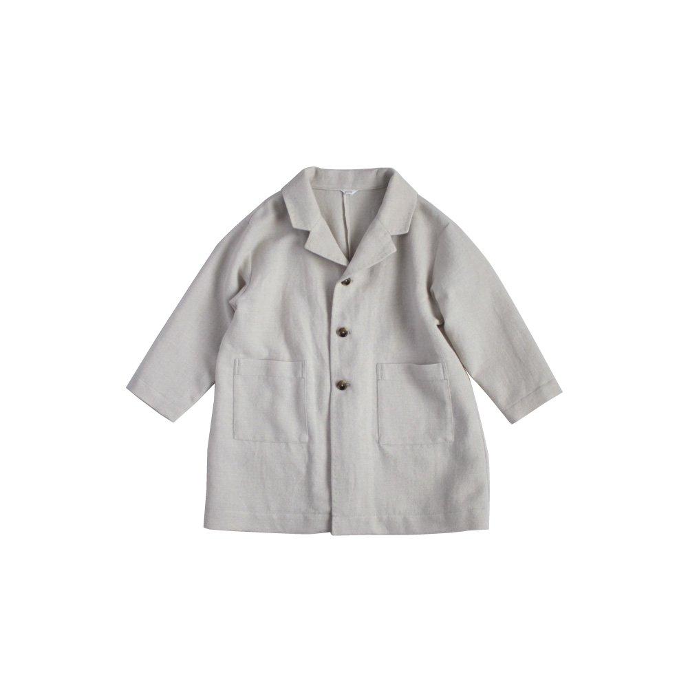 Cotton wool linen light coat ( natural )