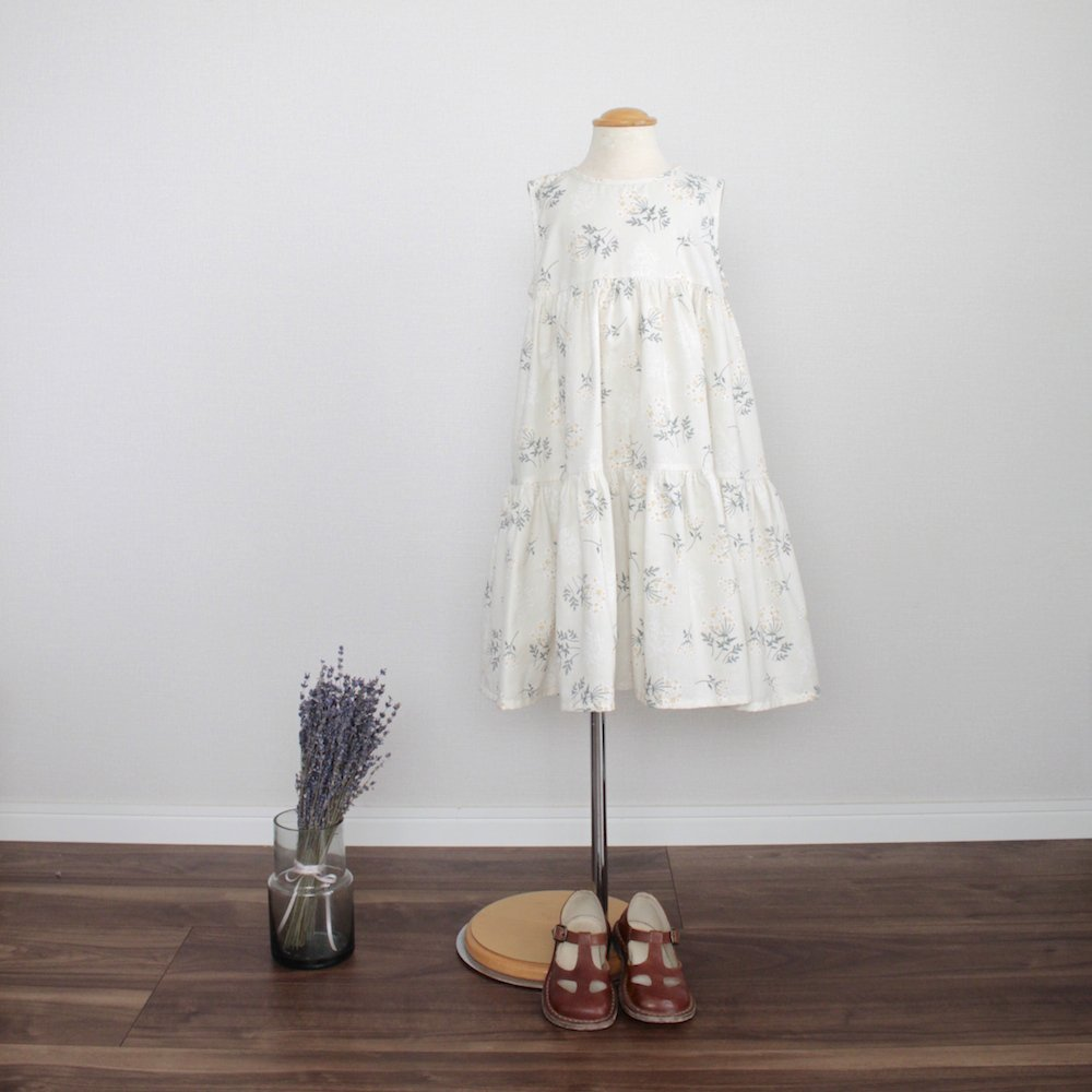 Lace flower tiered dress