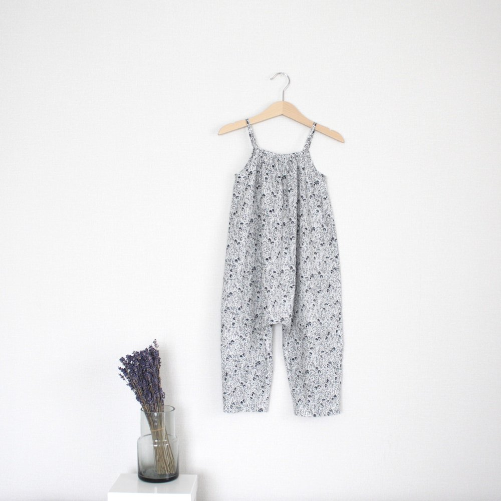 Shoulder strap romper (gray)