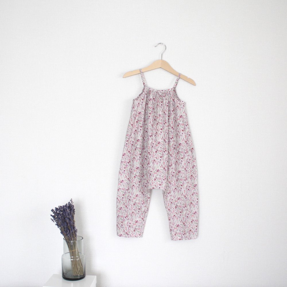 Shoulder strap romper (Berry)