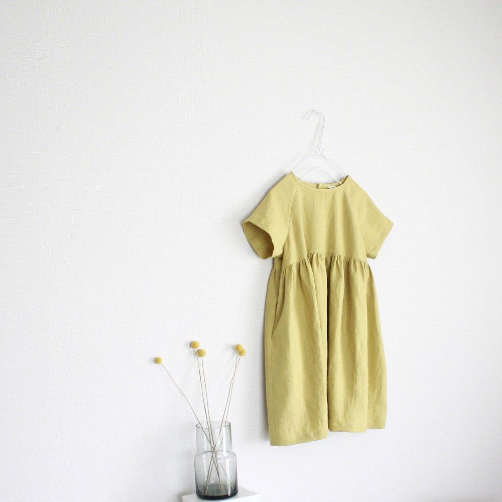 Linen raglan sleeve dress